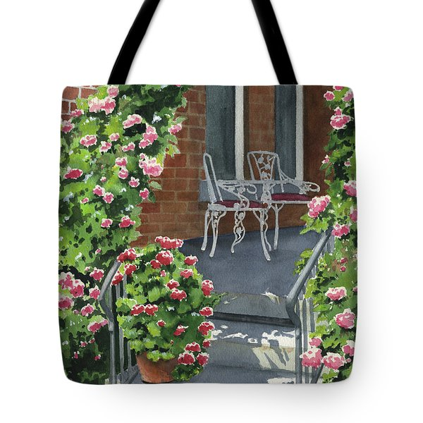 Roses On High St Tote Bag