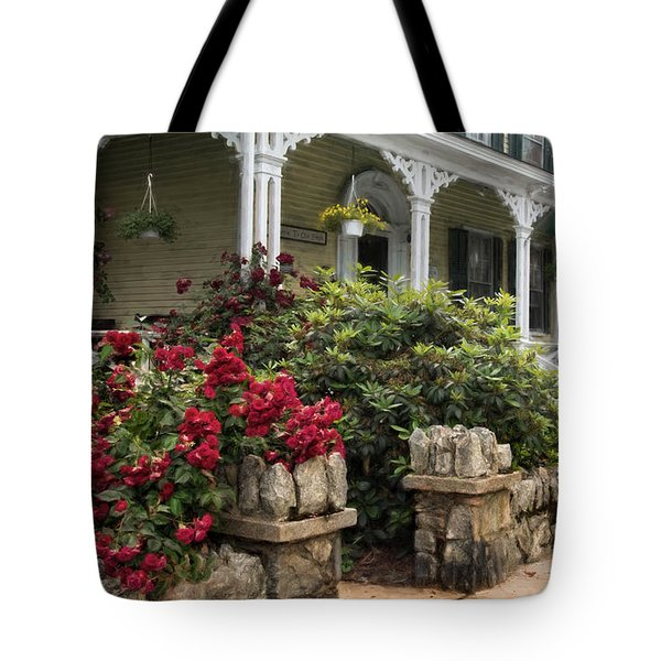 Tote Bag featuring the photograph Roses On Hope Street by Robin-Lee Vieira