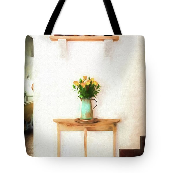 Rose's On Table Tote Bag