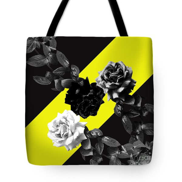 Roses Versus Yellow Tote Bag