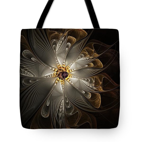 Rosette In Gold And Silver Tote Bag