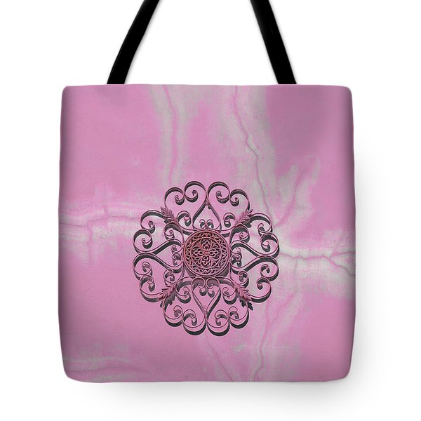 Tote Bag featuring the photograph Rosette On The Wall by Viktor Savchenko