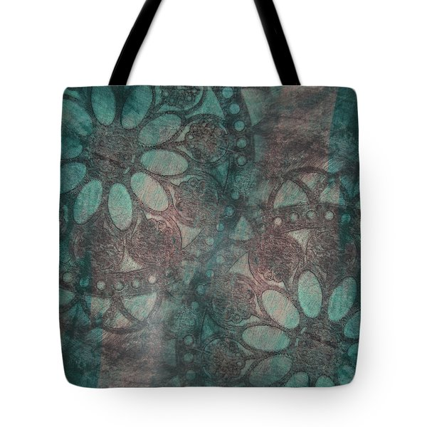 Tote Bag featuring the painting Rosette Stamps by Jocelyn Friis