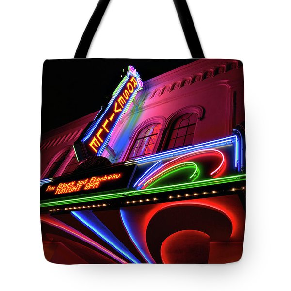 Roseville Theater Neon Sign Tote Bag