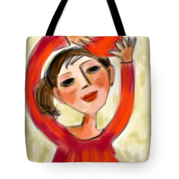 Rosie Red  Tote Bag by Elaine Lanoue