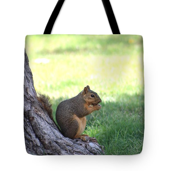 Roswell Squirrel Tote Bag by Colleen Cornelius