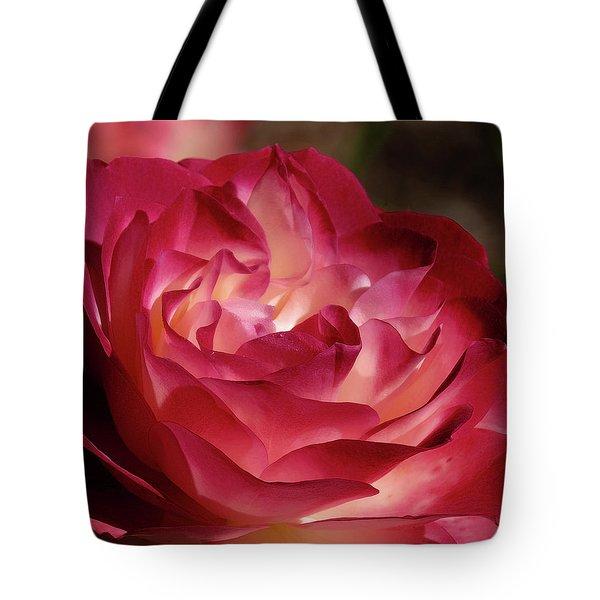 Rosy Closeup Tote Bag