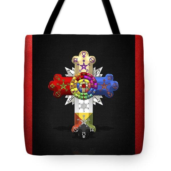 Rosy Cross - Rose Croix  Tote Bag by Serge Averbukh