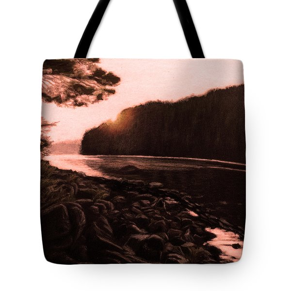 Rosy Glow Of Morning Tote Bag