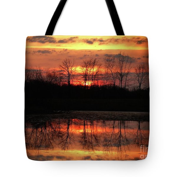 Rosy Mist Sunrise Tote Bag