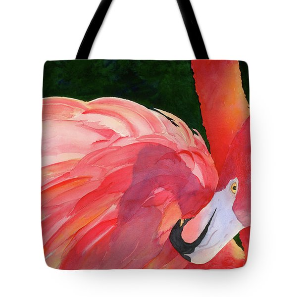 Rosy Outlook Tote Bag by Judy Mercer