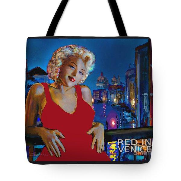 Rot In Venedig / Red In Venice Tote Bag