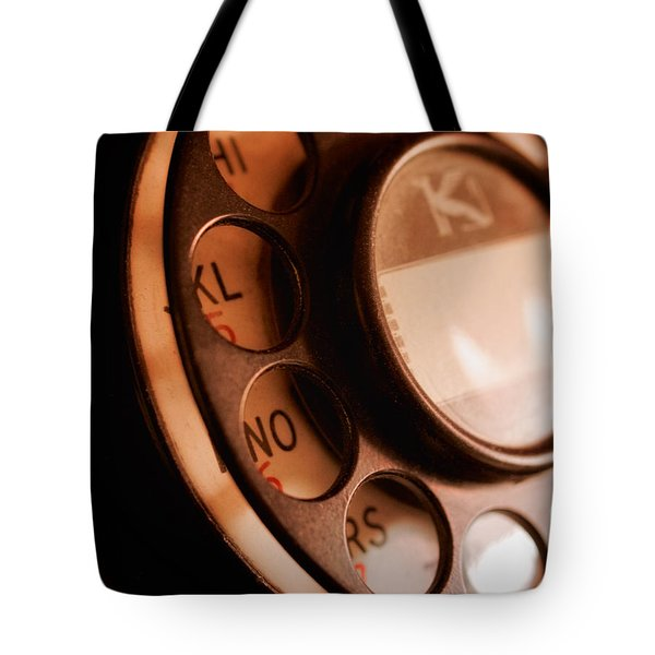 Tote Bag featuring the photograph Rotary Dial by Mark Miller