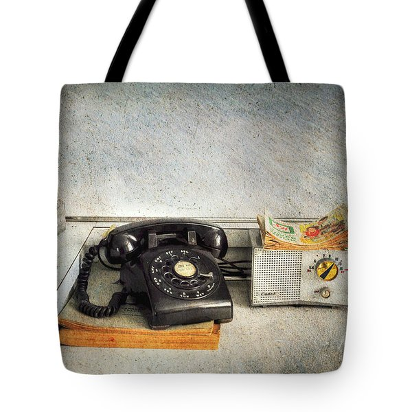 Rotary Dial Phone In Black S And H Stamps Tote Bag by Paul Ward