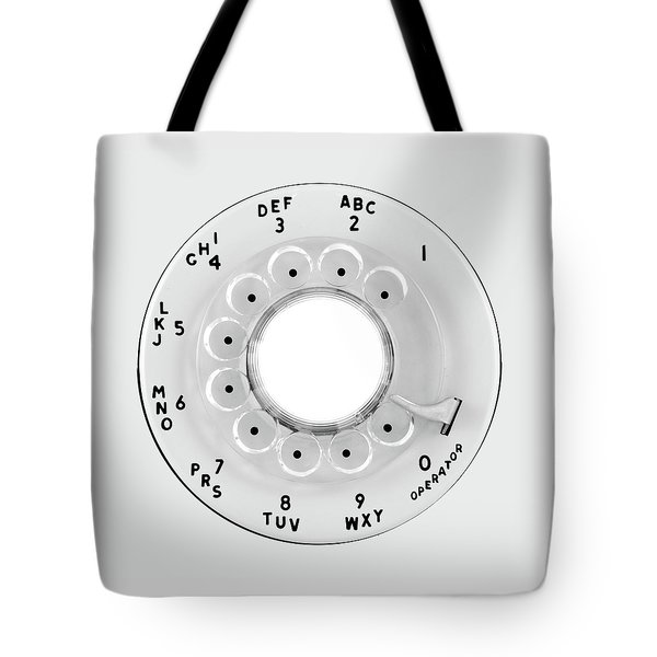 Rotary Telephone Dial Tote Bag by Jim Hughes