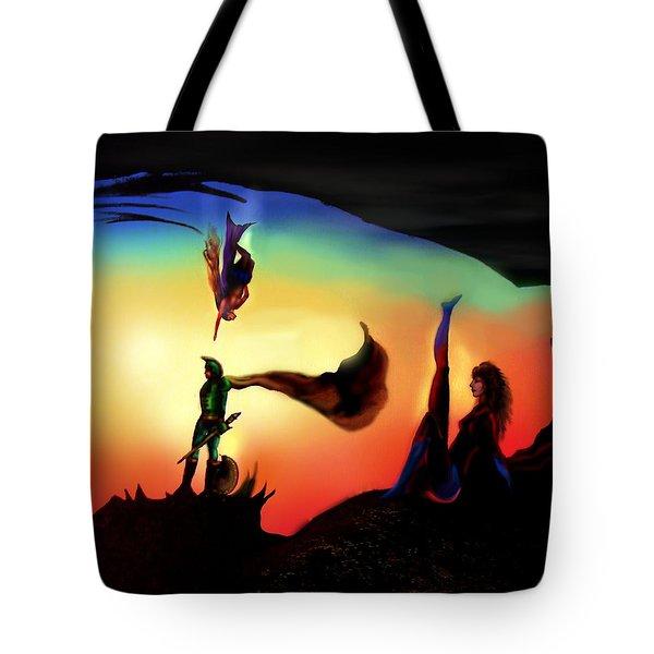 Rotatable Artwork We Can Be Heroes Tote Bag