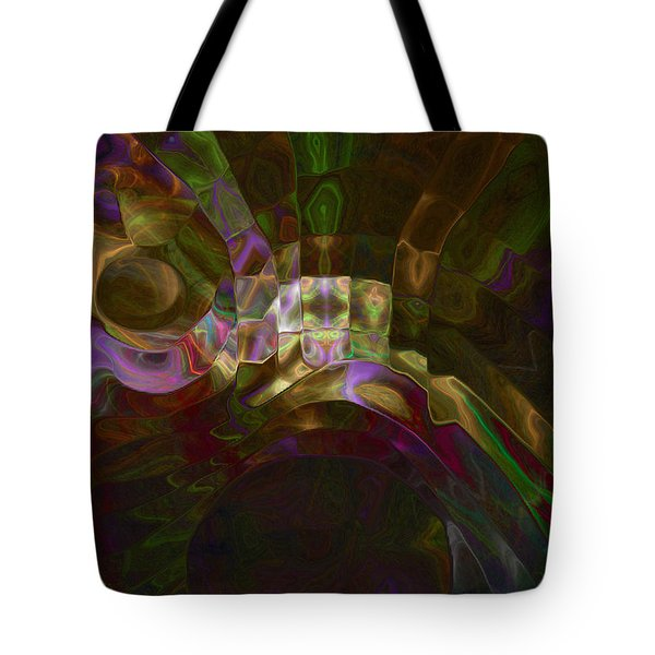 Tote Bag featuring the digital art Rotation by Kate Word