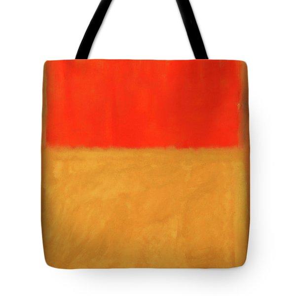 Rothko's Orange And Tan Tote Bag