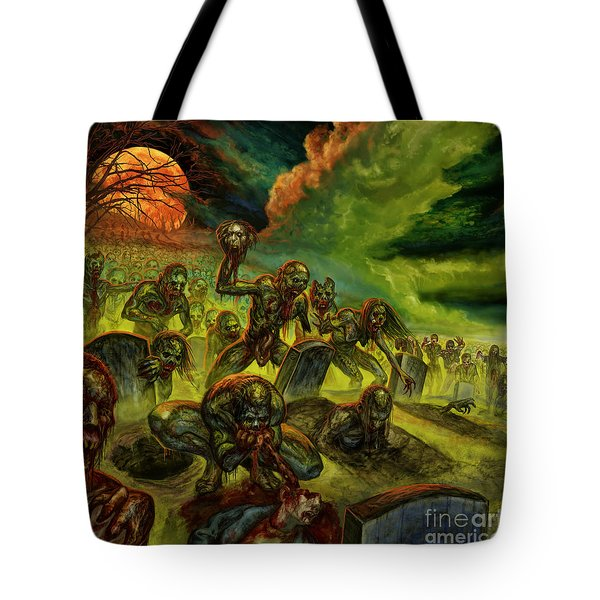 Rotten Souls Taint The Land Tote Bag by Tony Koehl