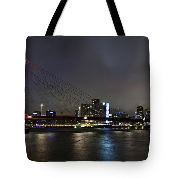 Rotterdam - Willemsbrug At Night Tote Bag