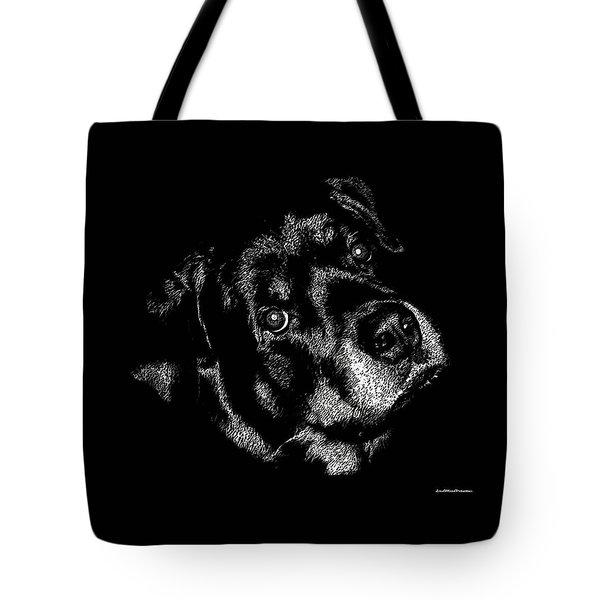 Rottweiler Mozart Portrait Tote Bag