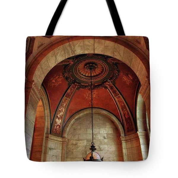 Tote Bag featuring the photograph Rotunda Ceiling by Jessica Jenney