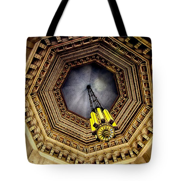 Tote Bag featuring the photograph Rotunda Ceiling Light by Joseph Hollingsworth