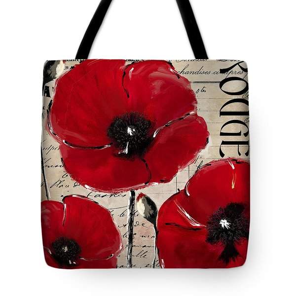 Rouge I Poppy Tote Bag