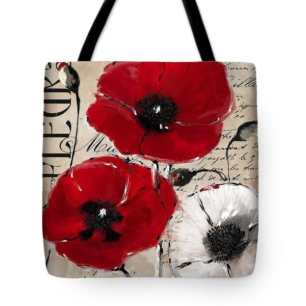 Rouge II Poppies Tote Bag