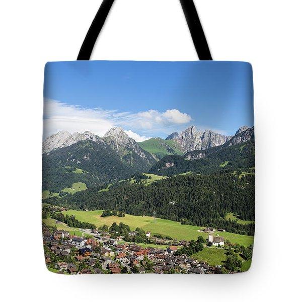 Rougemont Village In Switzerland Tote Bag