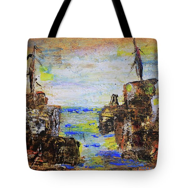 Rough Country Abstract Tote Bag