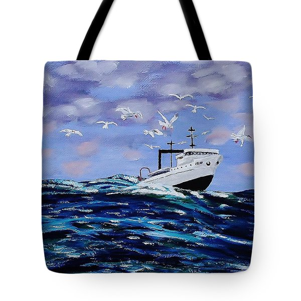 Rough Day For Fishing Tote Bag