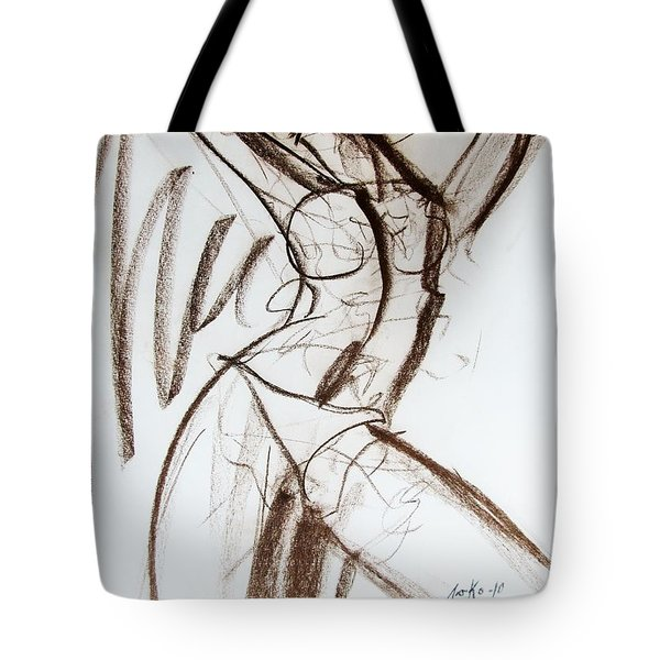 Tote Bag featuring the drawing Rough  by Jarko Aka Lui Grande