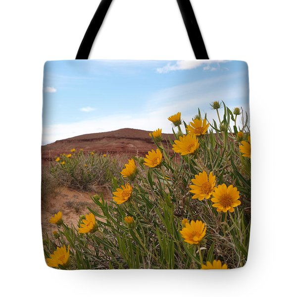 Rough Mulesear Flowers Tote Bag by Jenessa Rahn