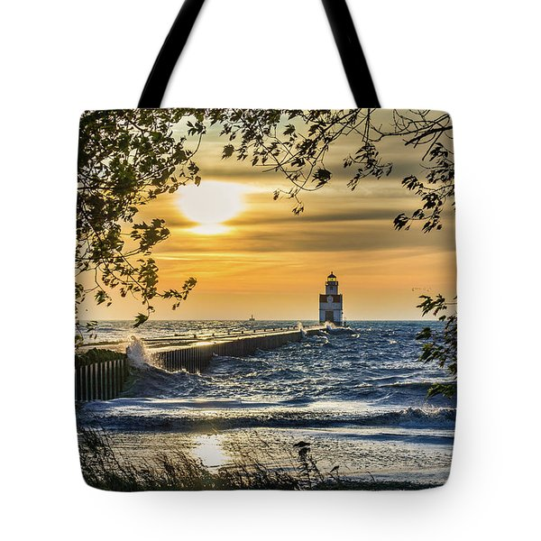 Tote Bag featuring the photograph Rough Opening by Bill Pevlor