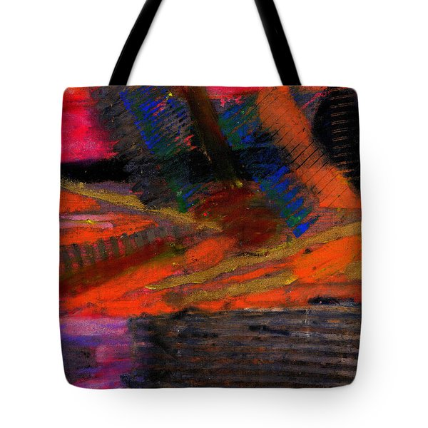 Tote Bag featuring the painting Rough Passage by Angela L Walker