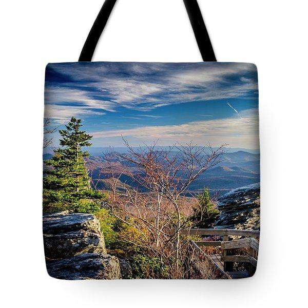 Rough Ridge View Tote Bag
