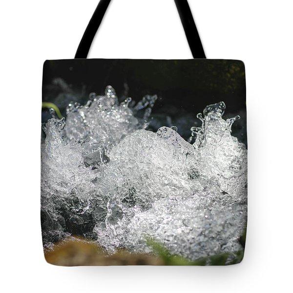 Rough Water Splash Tote Bag