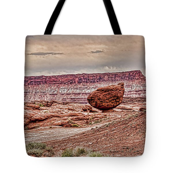 Roun Balance Rock Tote Bag by Daniel Hebard