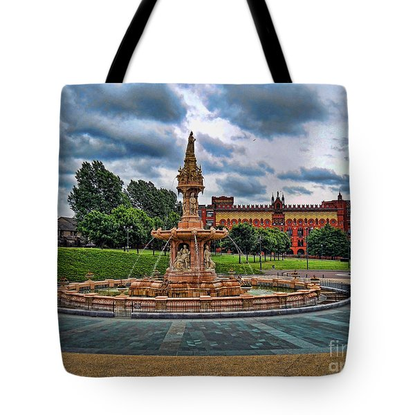 Tote Bag featuring the photograph Round About by Roberta Byram
