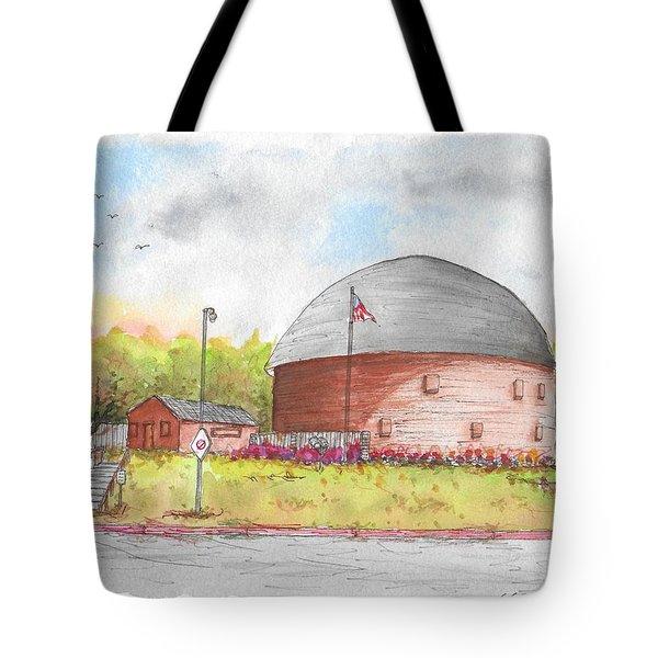 Round Barn In Route 66, Arcadia, Oklahoma Tote Bag