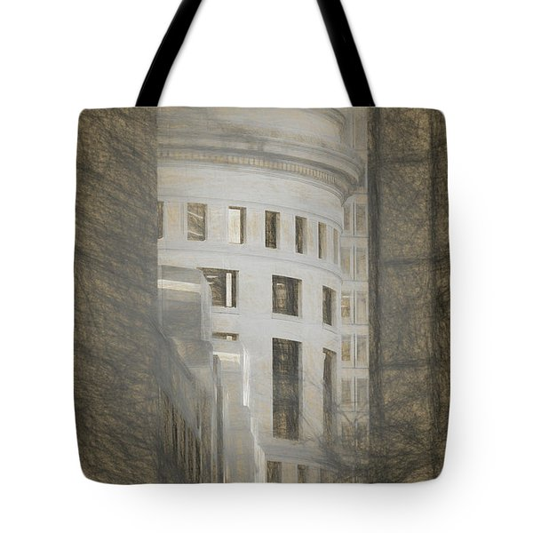 Round In A Square World Tote Bag