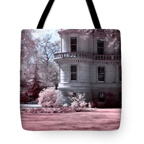 Tote Bag featuring the photograph Rounded Corner Tower by Helga Novelli
