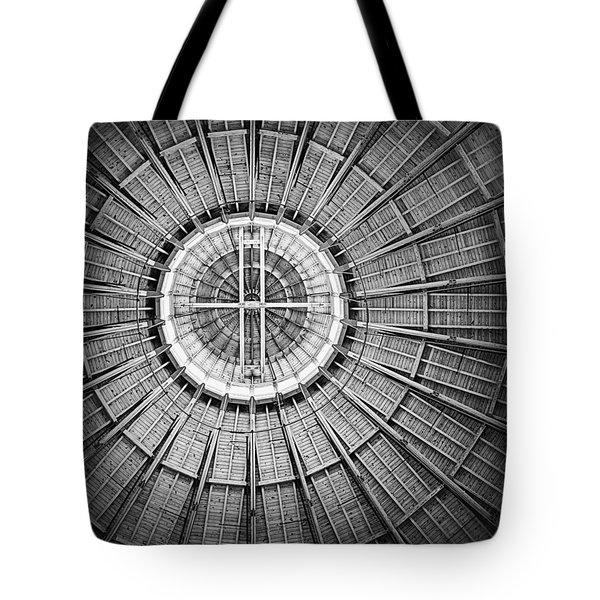 Roundhouse Architecture - Black And White Tote Bag by Joseph Skompski