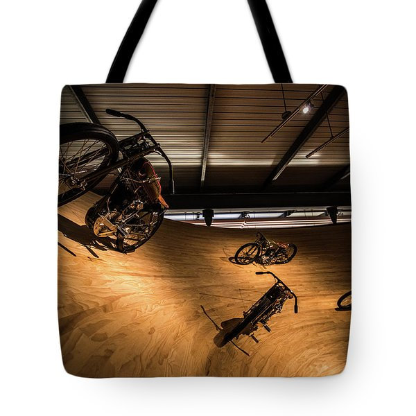 Tote Bag featuring the photograph Rounding The Bend by Randy Scherkenbach