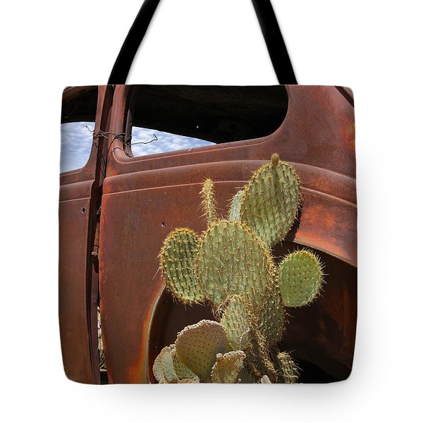 Route 66 Cactus Tote Bag by Mike McGlothlen