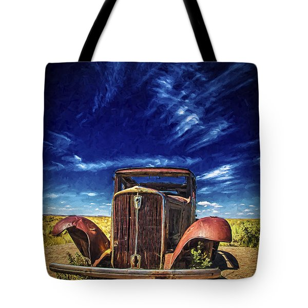 Tote Bag featuring the photograph Route 66 Derelict  ... by Chuck Caramella