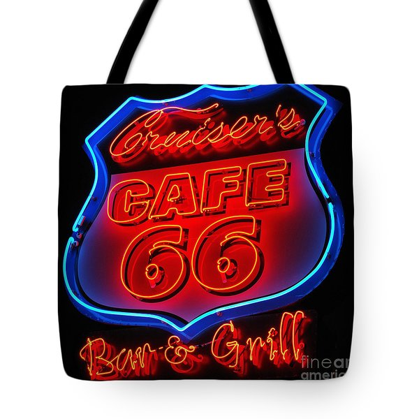 Route 66 Tote Bag by Donna Greene