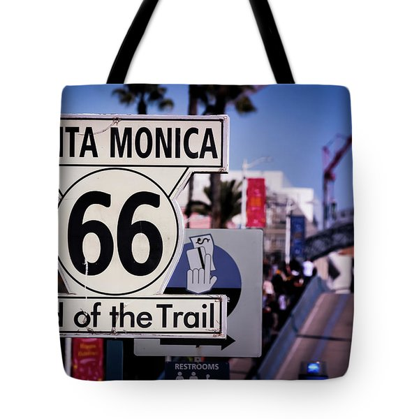Route 66 End Of Trail Tote Bag