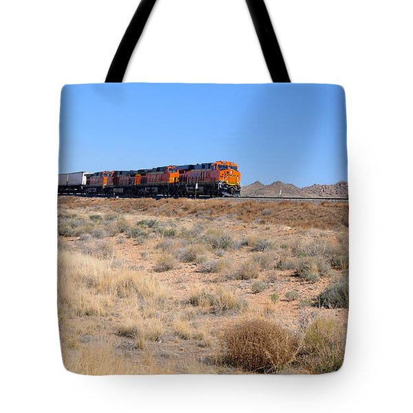 Route 66 Freight Train Tote Bag